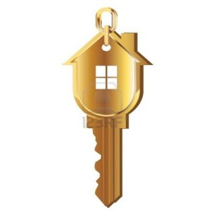 12490888-house-key-gold-real-estate-logo