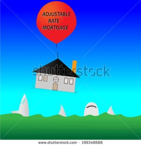stock-vector-illustrator-image-of-house-about-to-plunge-into-shark-infested-waters-as-cable-to-balloon-snaps-199348688